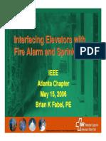Interfacing Fire Alarm and Elevators