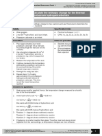 As and a Level Chemistry Core Practical 8 Hess Law (Student, Teacher, Technician Worksheets)