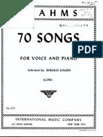 Brahms 70 Songs (Low)