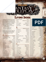 Warhammer Fantasy Roleplay Living Index
