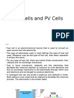 Fuel Cells and PV Cells