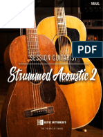 Session Guitarist - Strummed Acoustic 2 Manual English