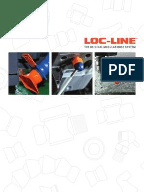 Pack 2 x 12 Length Segments 18 Elements Total Blue Acetal Copolymer 2-1//2 ID 2- Loc-Line Vacuum Hose Component