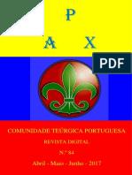 PAX nº 84 - Orgão Oficial da Comunidade Teúrgica Portuguesa