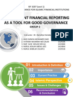 Transparent Financial Reporting as a Tool of Good Governance