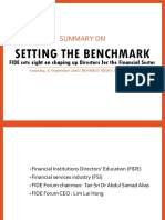 Setting the Benchmark- FIDE sets sight on shaping up Directors for the Financial Sector