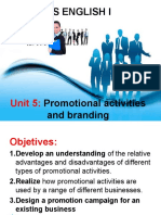 Promotional Activities and Branding
