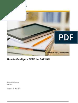 SAP_HANA_SFTPConfig_Guide_en pdf   Secure Shell   File