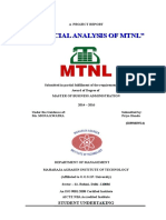 Financial Analysis of MTNL