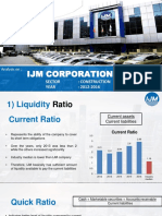 FSA IJM Corporation Bhd- Financial Ratio Analysis