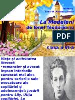 La Medeleni, De Ionel Teodoreanu, Cls a Vi-A