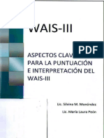 WAIS III (PEON) Puntuacion e Interpretacion