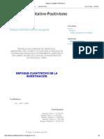 2 Enfoque Cuantitativo-Positivismo