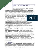 Appunti Di Cartografia e Cartografia Ufficiale Italiana