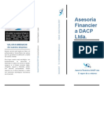 Folleto asesoria financiera