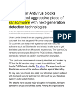 Bitdefender Antivirus blocks world's most aggressive piece of ransomware with next-generation detection technologies