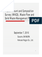 8. Waste Amount and Composition Survey (WACS), Waste Flow and Solid Waste Management Planning