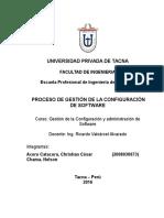 Proceso de Gestión de La Configuración de Software