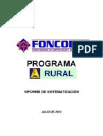 FONCODES informe
