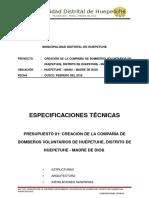 Especificaciones Tecnicas - Bomberos