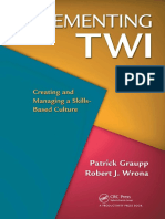 Implementing  Training Within Industry - TWI 2nd Ed
