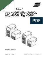 Esab Arc4000i Tig4000i Mig4000i