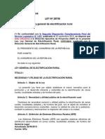 Ley N° 28749 - Ley General de Electrificación Rural