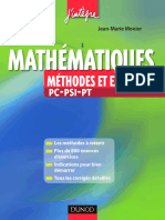 Mathematiques Methodes Et Exercices Pc Psi Pt