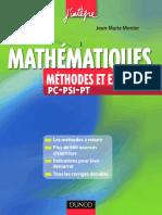 Mathematiques Methodes Et Exercices Pc Psi Pt