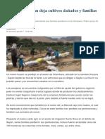Huaicos en Sayán Deja Cultivos Dañados y Familias Damnificadas