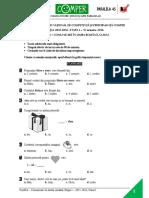 Subiect Si Barem LimbaRomana EtapaI ClasaI 15-16