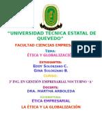ÉticayGlobalización
