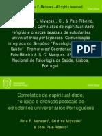 Correlatos Da Espiritualidade Religiao e Crencas Pessoais de Estudantes Universitarios Portugueses