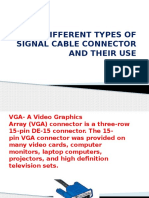 Different Types of Signal Cable Connector and Their