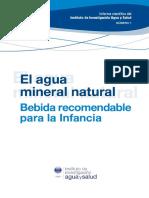 Informe Cientifico El Agua Mineral Natural Bebida Recomendable Para La Infancia-IIAS