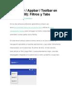Actionbar Appbar Toolbar en Android (III) Filtros y Tabs
