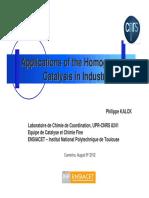 Aplicación catálisis en industria