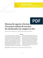 Sistema de suporte à decisão Fuzzy para seleção de serviços de encomendas em compras on line