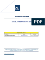 Excel Intermedio 2013