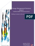 Change Management Business Report on Vodafone