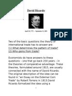 The History of Comparative Advantage