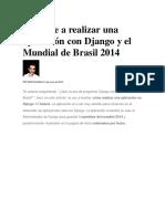Aprende a Realizar Una Aplicación Con Django y El Mundial de Brasil 2014