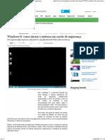 Windows 8_ Como Iniciar o Sistema Em Modo de Segurança