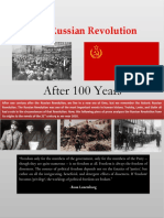 The Russian Revolution (the 100th Year Anniversary)