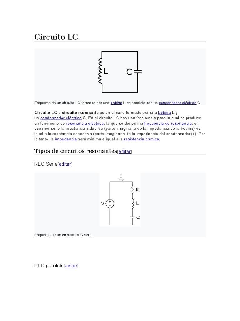 Circuito Lc : Circuito lc rlc