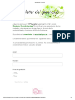 Newsletter Del Greenclub