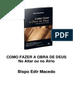 Como Fazer a Obra de Deus - Edir Macedo PDF