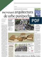 Revelan arquitectura de urbe purépecha
