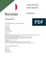 RECETAS VARIAS DULCES