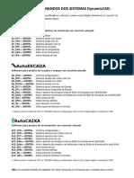 Lista de Comandos Dos Sistemas Dynamiccad